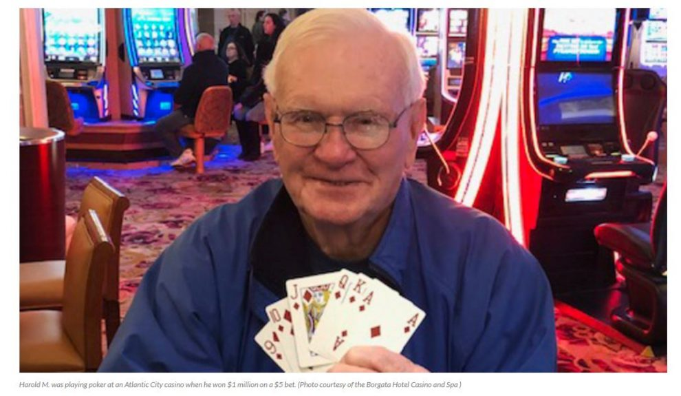 Poker player turns $5 bet into $1M at Atlantic City Casino