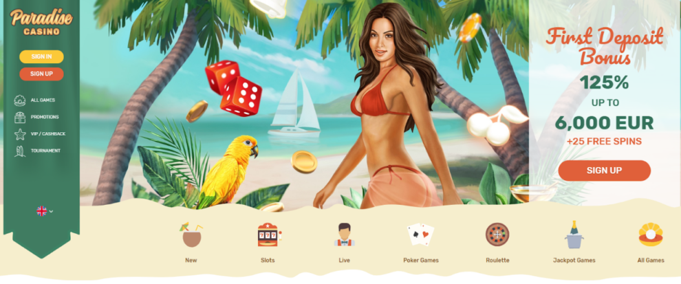 Paradise Casino Launching New Website Slots and More