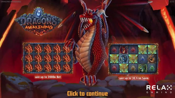 New Slot Release Dragons Awakening By Relax Gaming