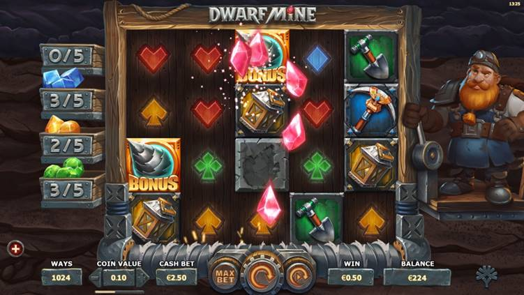 New Slot Release By Yggdrasil: Dwarf Mine