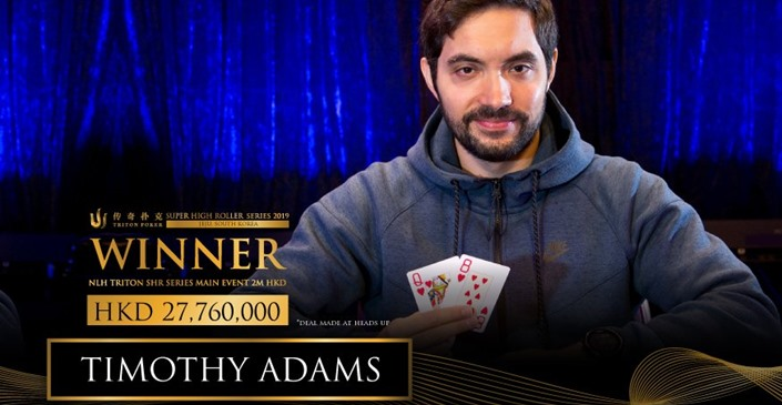 Triton Poker Series: Adams Grabs The Main Event, Kuznetsov Finishes First In HKD 1m No-Limit Hold'em Short-Deck