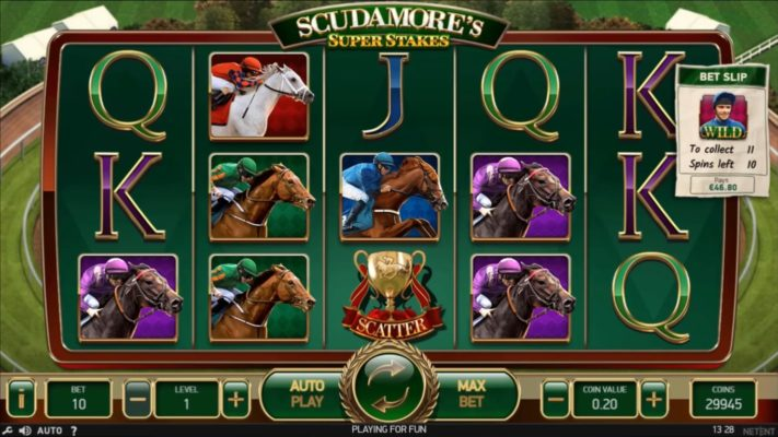 NetEnt Releases Its First Sports Branded Slot - Scudamore's Super Stakes