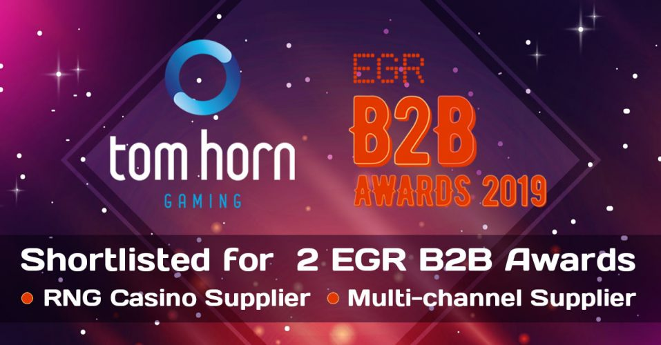 Tom Horn Gaming Earns Double EGR B2B Awards Nomination