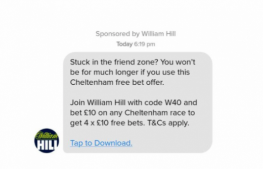 William Hill Gambling Ad