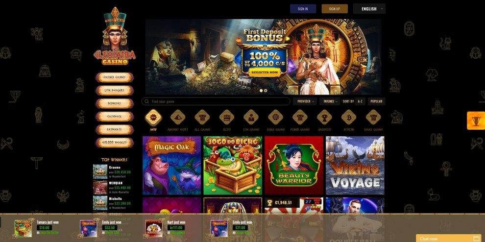 Cleopatra Online Casino Review