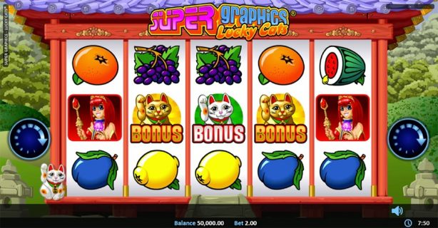 New Slot Release By Realistic Games: Super Graphics Lucky Cats