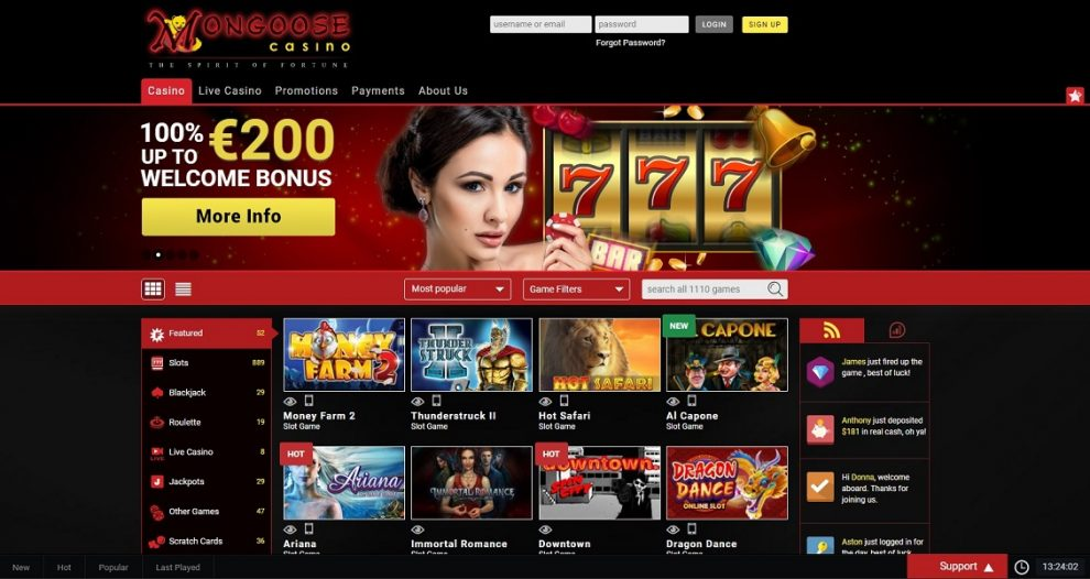Mongoose Online Casino Review