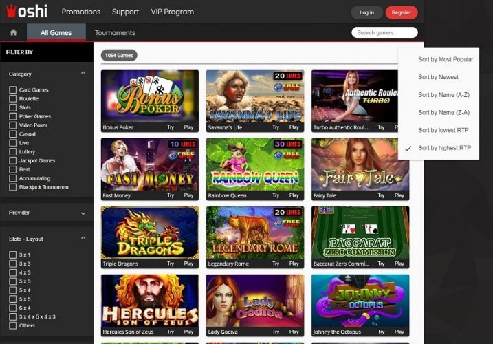 Oshi Online Casino Launches Industry's 1st Fair Play Features