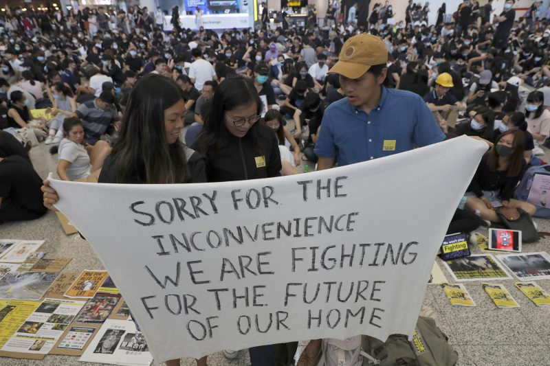 Amidst Protests, Hong Kong Cancels All Departing Flights