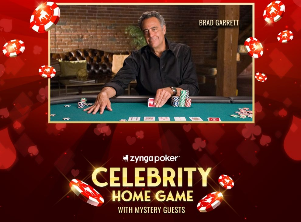 Comedian, Actor And Poker Player Brad Garrett To Host Celebrity 'Home Game' With Zynga Poker