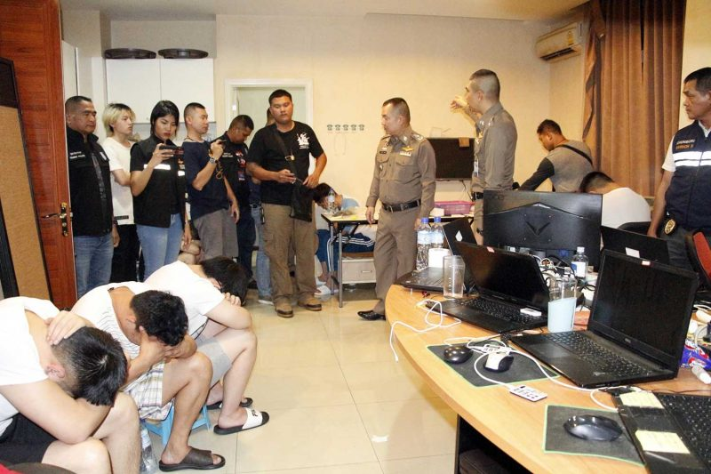Online Gambling Ring Busted, Four Koreans Arrested In Bangkok