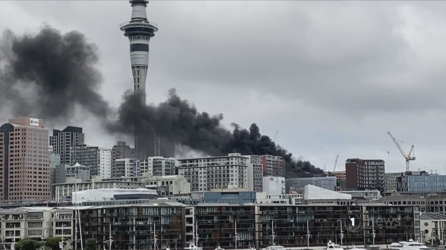 Massive Fire At SkyCity Convention Center, Hotel Evacuated