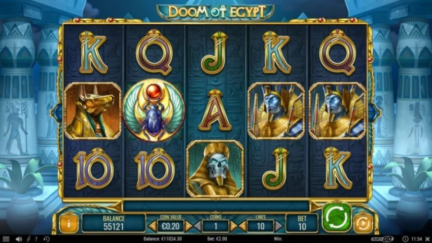 New Slot Release By Play'n GO: Doom Of Egypt