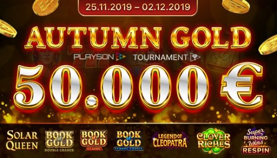 Playson €50k Autumn Gold Tournament