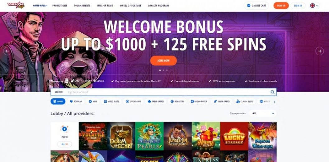 Vulkan Vegas Online Casino Review