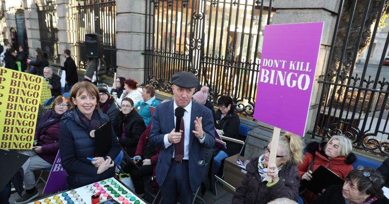 Protests In Ireland Over Controversial Gambling Proposals, Protestors Fear New Laws Will Shut Bingo Halls
