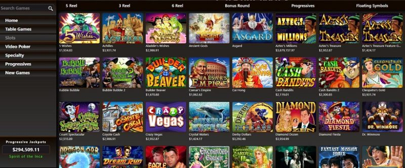 Casino Max Casino Games Offered