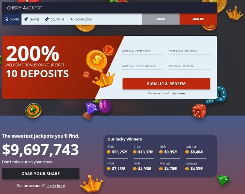 Cherry Jackpot Casino General Overview