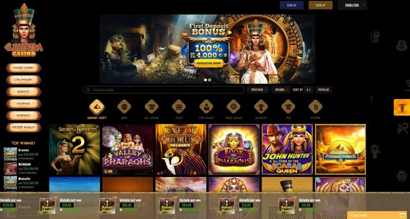 Cleopatra Casino General Overview