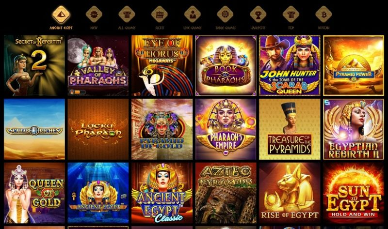 Cleopatra Casino Games Offered