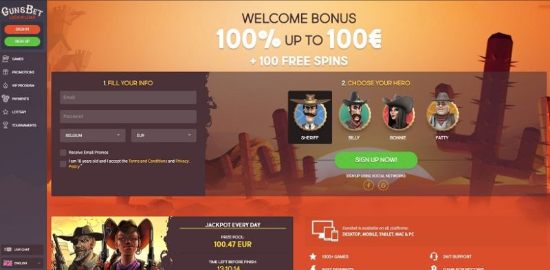 GunsBet Casino General Overview