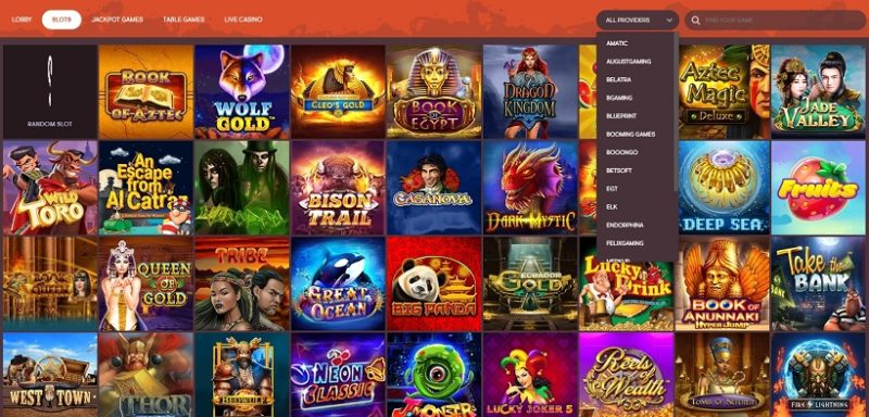 GunsBet Casino Games Offered