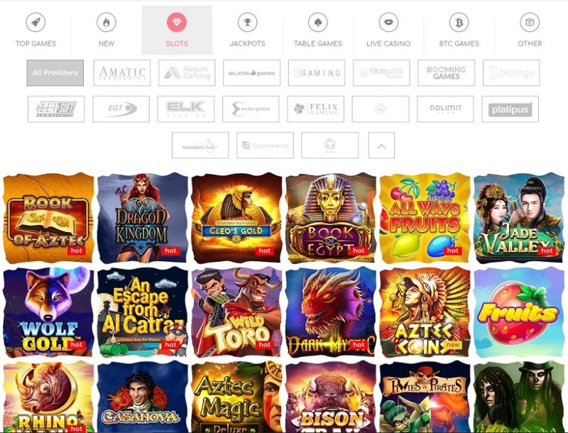 Loki Casino Games Offered