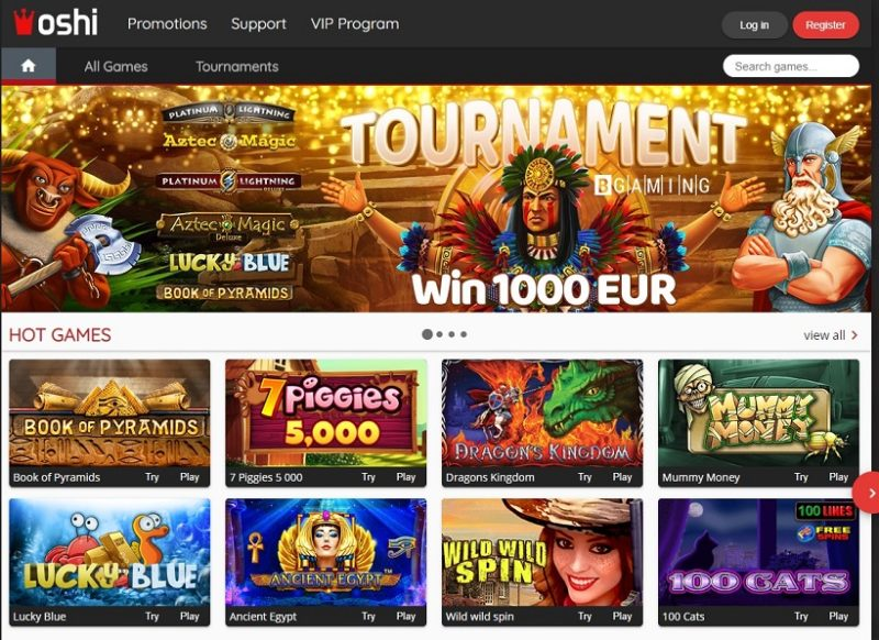 Oshi Casino General Overview