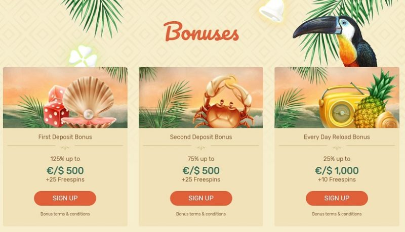 Paradise Casino Bonuses And Promotions