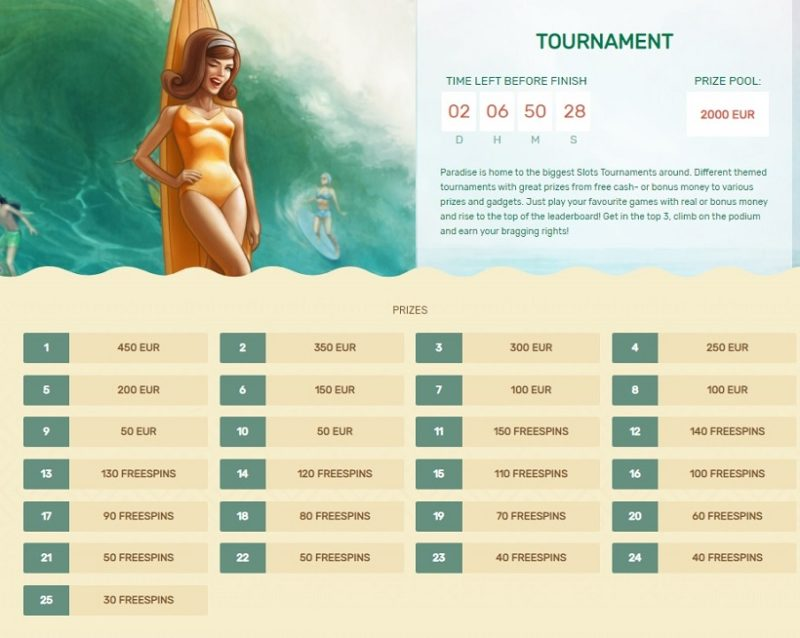 Paradise Casino Tournaments
