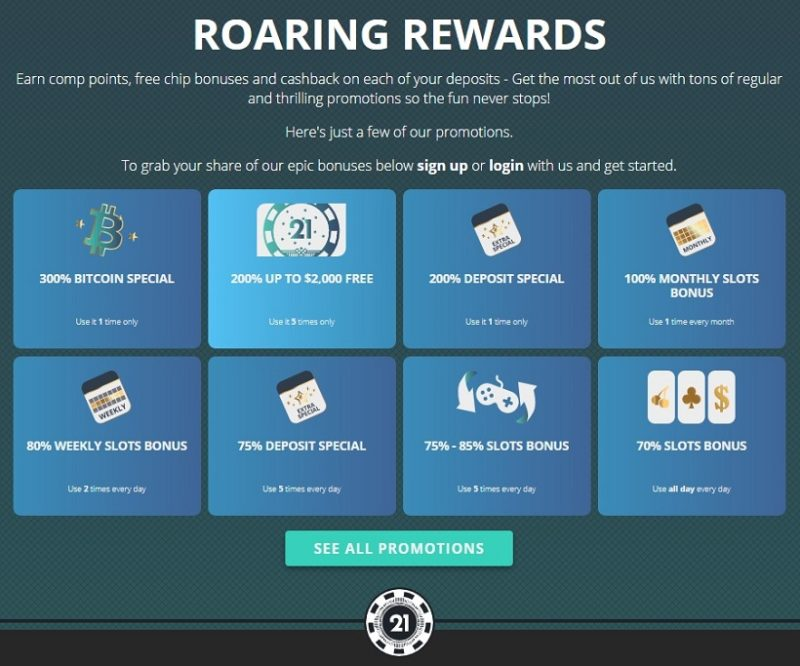 Roaring21 Casino Bonuses And Promotions