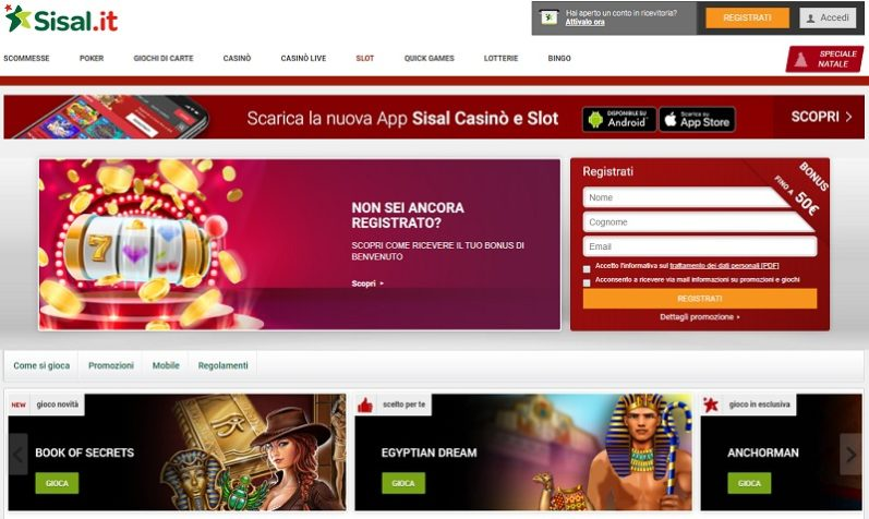 Sisal Casino: Review Of An Italian Excellence