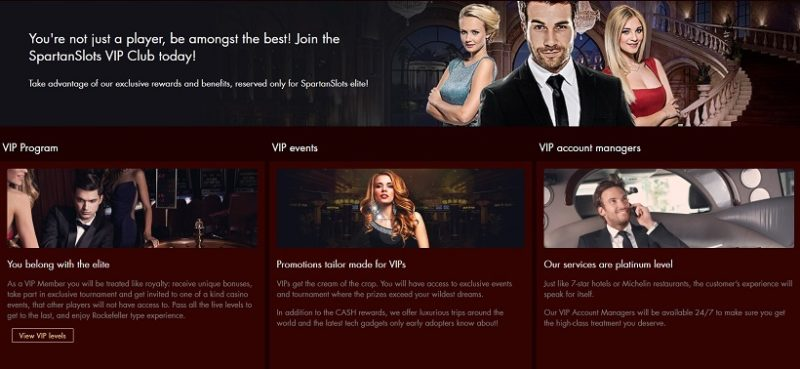 Spartan Slots Casino VIP Program