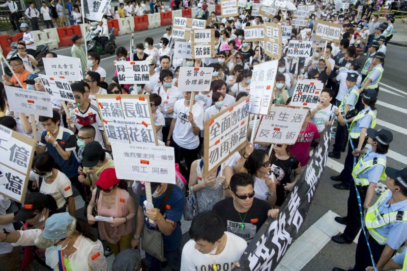 Casino Workers In Macau Take To Streets Demanding Better Working Conditions