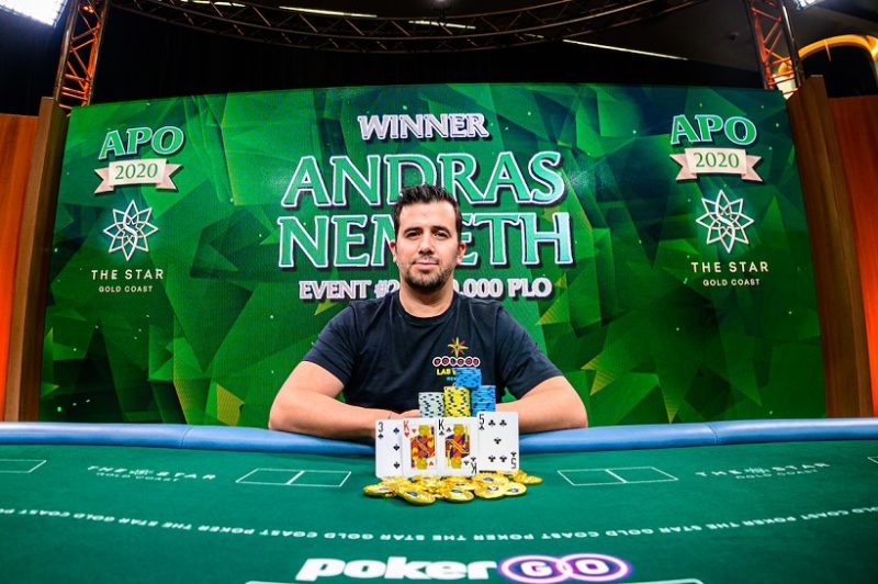Andras Nemeth Wins Australian Poker Open Event #2 For AUD $146,200 – Mike Watson Extends Championship Lead