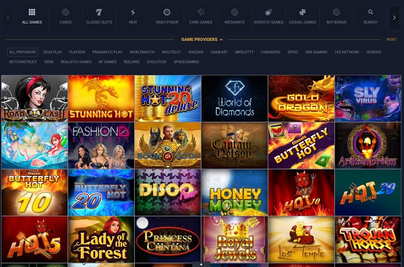 BetMate Sportsbook And Casino Games Offered