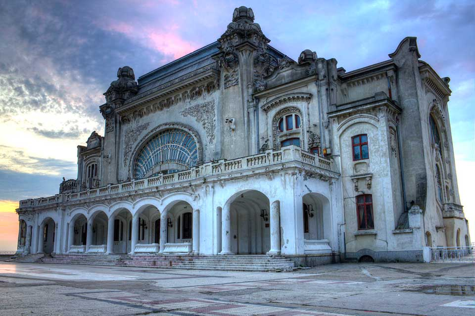 Abandoned Constanta Casino Refurbishment Underway