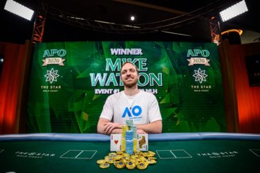 Mike Watson Wins Opening Event At Inaugural Australian Poker Open For AUD 177,000