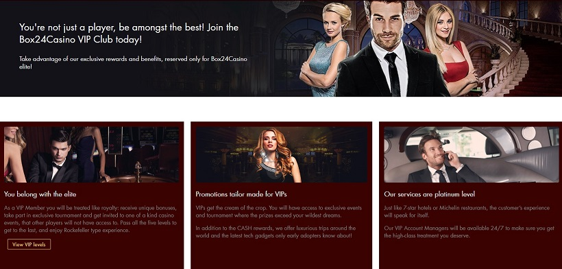 Box 24 Casino VIP Program