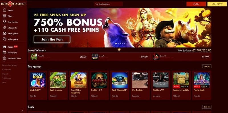 Box 24 Casino General Overview
