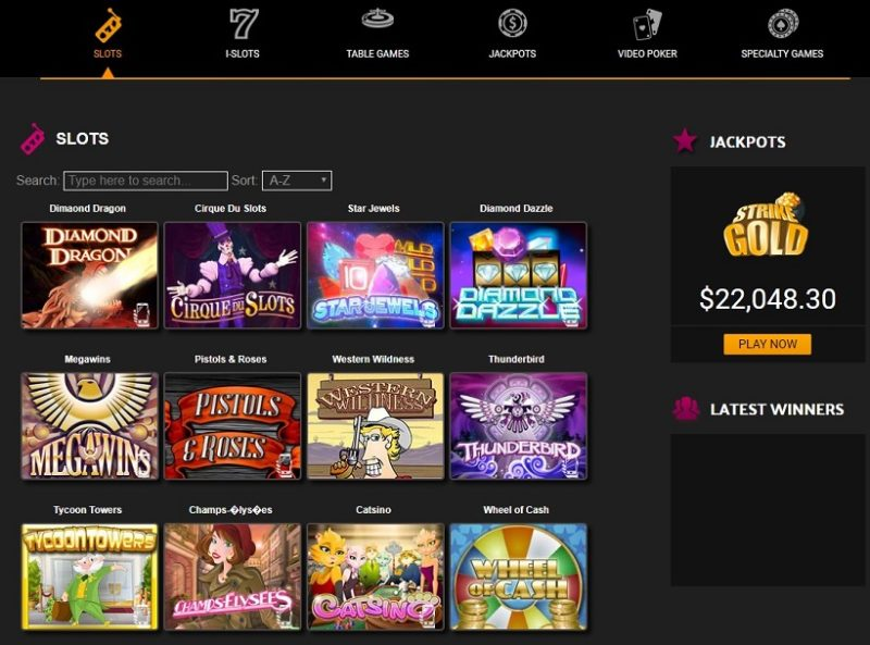 Desert Nights Casino Games Offered