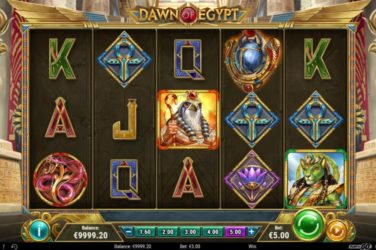 New Slot Release By Play'n GO: Dawn Of Egypt