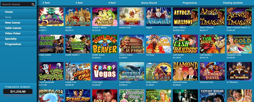 Sloto Cash Casino Games Offered