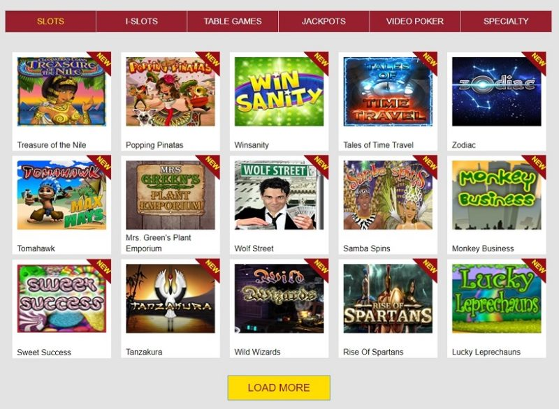 Slots Capital Casino Games Offered