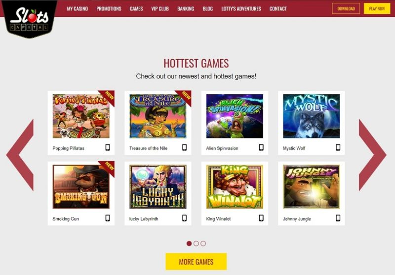 Slots Capital Casino General Overview