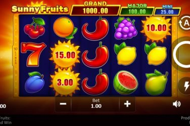 New Slot Release By Playson: Sunny Fruits