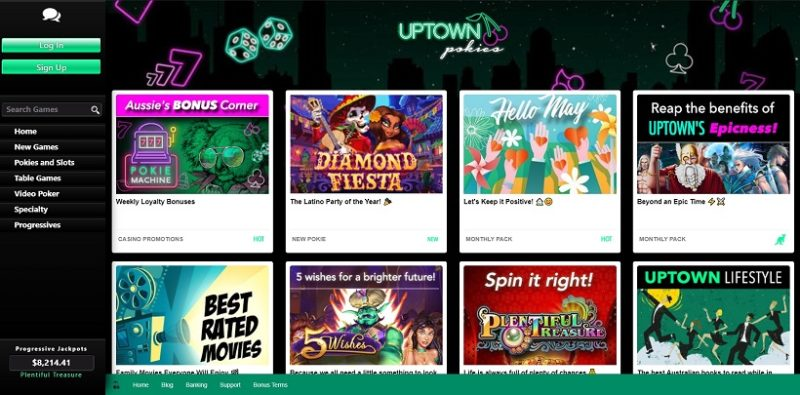 Uptown Pokies Casino General Overview
