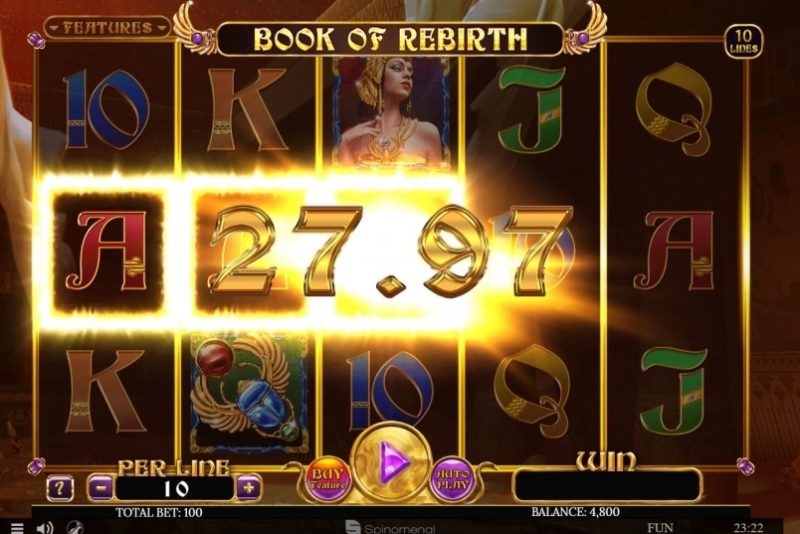 New Slot Release By Spinomenal: Book Of Rebirth