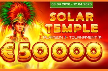 Playson's New Game Solar Temple Gets Ready To Shine In €50K Tournament