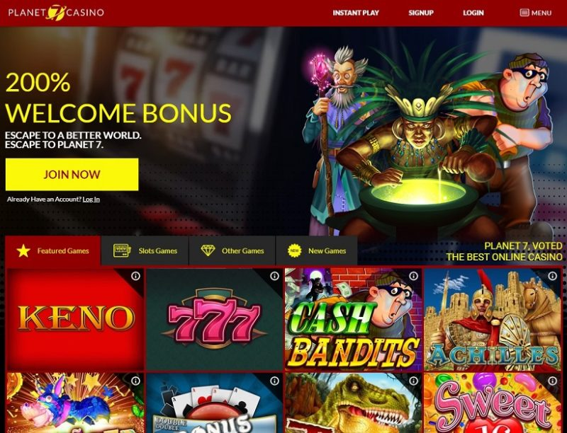 Planet 7 Casino General Overview